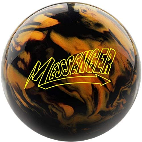 Columbia Messenger - Schwarz/Gold Pearl Oberfläche, Reaktiv Bowlingkugel für Einsteiger und Turnierspieler - inklusive 100ml EMAX Ball-Reiniger Größe 8 LBS