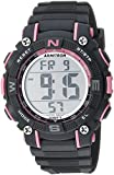 Armitron Sport Women's 45/7099PGY Pink Accented Digital Chronograph Grey Resin Strap Watch