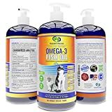 Snappies Petcare Omega 3 Fish Oil for Dogs and Cats – Wild & Pure Icelandic Liquid Fish Oil Supplement - No Odor & More EPA & DHA Than Salmon Oil for Optimal Pet Nutrition (32 Ounces)