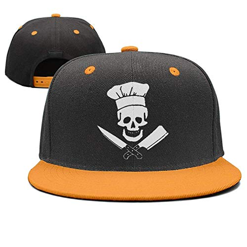 Nifdhkw Skull-Chef Cooking Skull Chapeau Grill Master Chapeau Strapback Style Unisexe Multicolor66