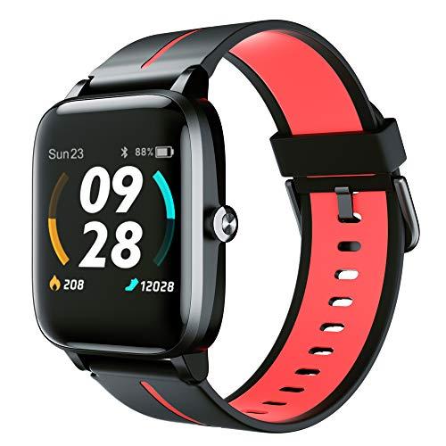 Smartwatch GPS, Fitness Armbanduhr 5 ATM Wasserdicht Fitness Tracker mit 14 Sportmodi Sportuhr mit Schrittzähler Schlafmonitor Wettervorhersag Herzfrequenzmesser Smart Watch DIY Hintergrund Stoppuhr