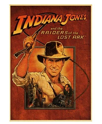 JCYMC Leinwand Bild Vintage Klassiker Indiana Jones Poster Für Home Bar Wanddekoration Yb49Qz 40X60Cm Rahmenlos