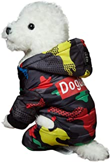 CHARMGIRL Cold Weather Dog Clothes- Camouflage Hoodied Coat Winter Warm Puppy Pets Cotton Padded Jackets Outfit