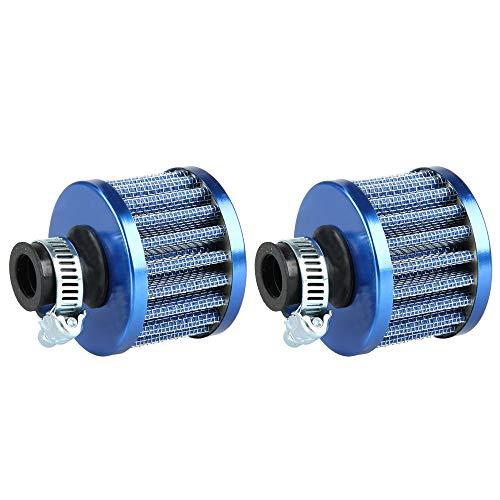Mintice 2 x 12 mm Mini Universal Coche Motor Cono Limpio Frío Filtro de entrada de aire Turbo Vent Vehículo
