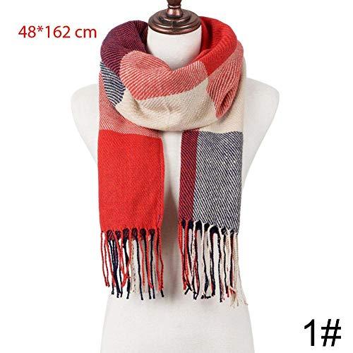 YSDSBM sjaal vrouw wintersjaal breien lange sjaal sjaal vrouw plaid herfst winter warme kledingaccessoires