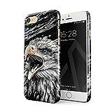 BURGA Hülle Kompatibel mit iPhone 7/8 / SE 2020 - Handy Huelle Vogel Wild Adler Eagle Savage Dünn Robuste Rückschale aus Kunststoff Handyhülle Schutz Hülle Cover