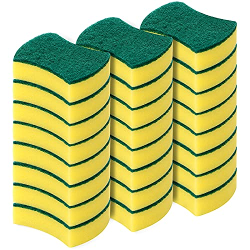 MAVGV Kitchen Cleaning Sponges,24 Pack Eco Non-Scratch for Dish,Scrub Sponges