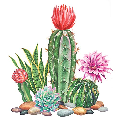 Diamond Painting Flowers DIY 5D Full Drill Diamond Painting Kits for Adults Kids Gem Pictures by Numbers Art Craft for Beginners Home Decoration-11.8x11.8in-Cactus Tree