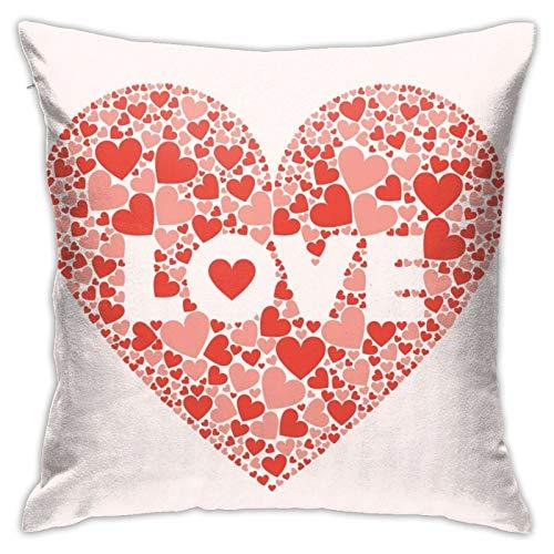 Fundas de almohada para el día de San Valentín, decoración de sofá, decoración del hogar, decoración de habitación de niños, 45,7 x 76,2 cm, divertida decoración de gato