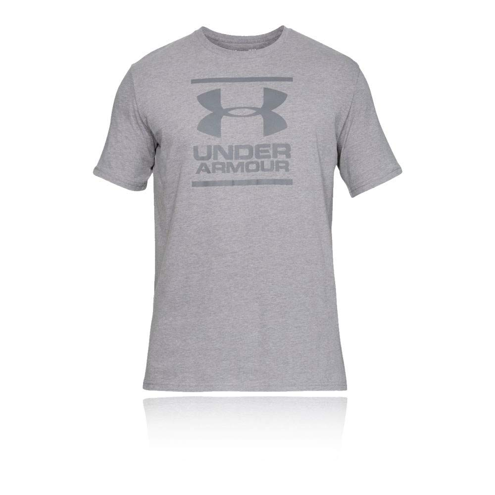 Under Armour Mens GL Foundation Short Sleeved T Shirt Tee Top Grey Sports Gym
