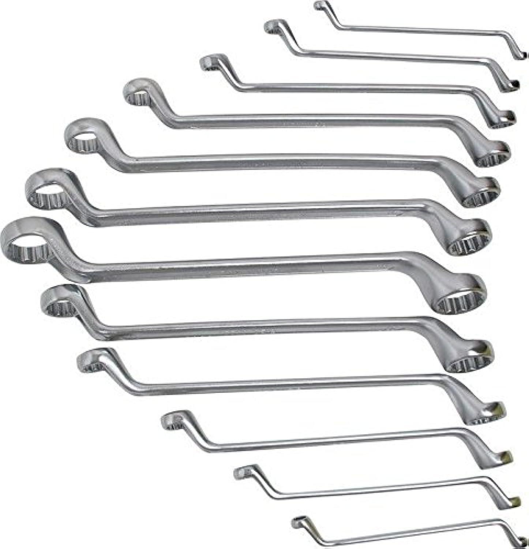 BGS 30200 Doppelringschlüssel-Set, 75° gekröpft, 6-32 mm, 12-tlg. B003K41EIA | Lebhaft