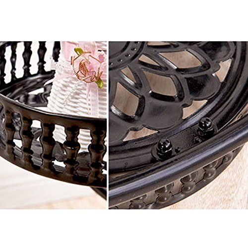 Feuille métallique européenne multi-couche mobile push-pull support de fleurs salon balcon style style fleur à roulettes (Couleur : White without casters)