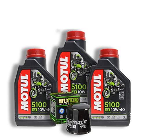 Tagliando HONDA VT 600 Shadow 1991 1992 1993 1994 MOTUL 5100 10W40 filtro olio