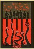 N/U Póster De Stranger Things 3 Programa De Televisión Caliente Carteles Antiguos Impresiones De Papel Kraft Decoración De Pared De Bar Habitación Hogar Pintura Artística B1 50X70Cm