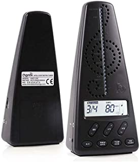 Leoie Cherub Metronome WMT-220 Electronic Metronome Guitar Piano Drum Musical Instrument General Rhythm with Pickup Clip black