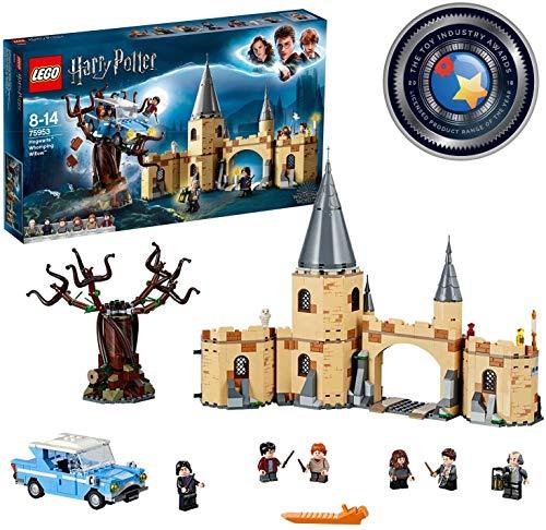 LEGO Harry Potter - Sauce Boxeador de Hogwarts, Juguete de Construcción del Mundo Mágico con Minifiguras de Harry Potter, Ron Weasley, Hermione Granger, Severus Snape y Otros Personajes (75953)