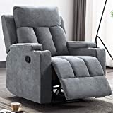 OTTOMANSON Cupholders Comfortable Easy Manual Reclining, Gray