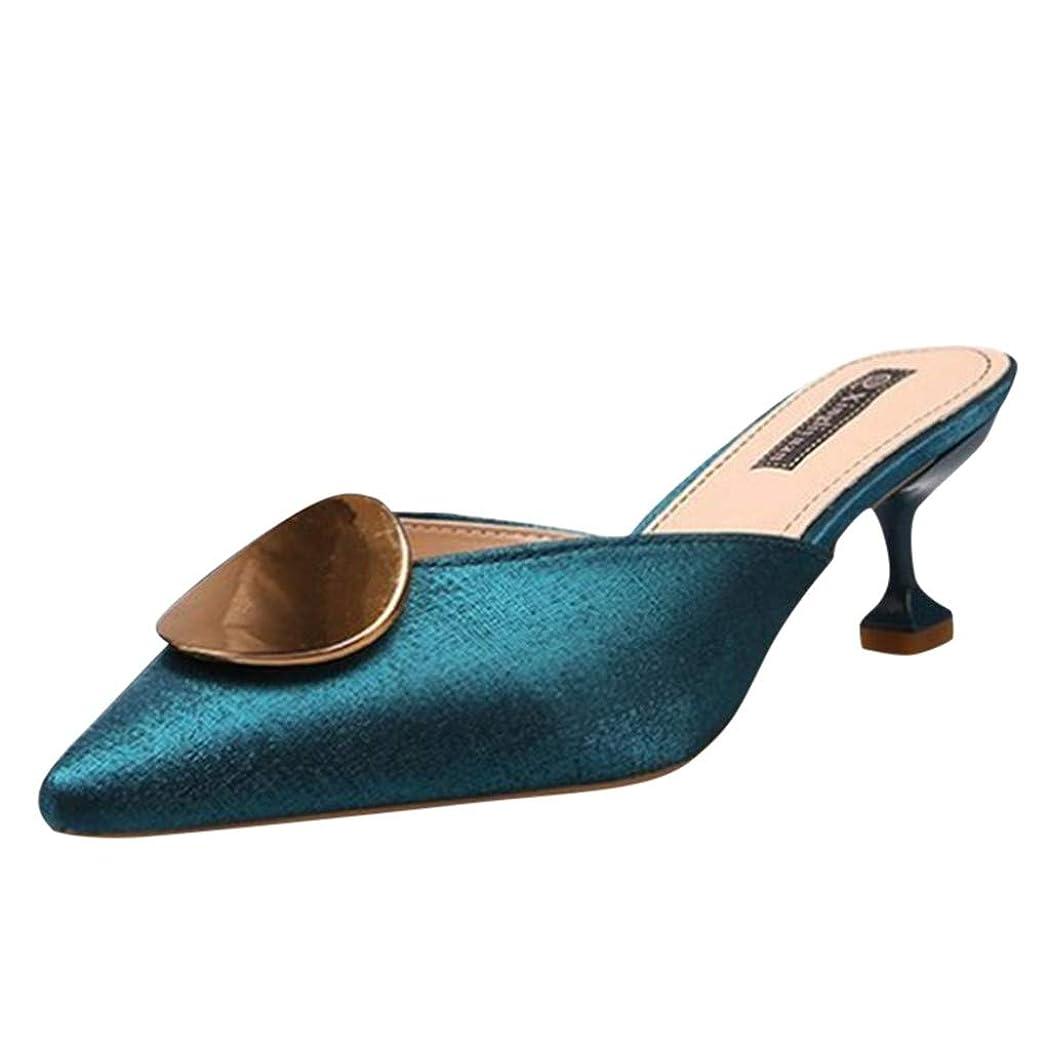 ペッカディロ想像するオートマトンハイヒール Hodarey 春夏 半分スリッパ 女性 スリッパカジュアルシューズ 女性の靴 セクシーハイヒールカジュアルフォーマルシューズ 疲れない靴 レディースファッション サンダル 欧米風 フラットシューズ 行動便利 ビジネスシューズ 商事