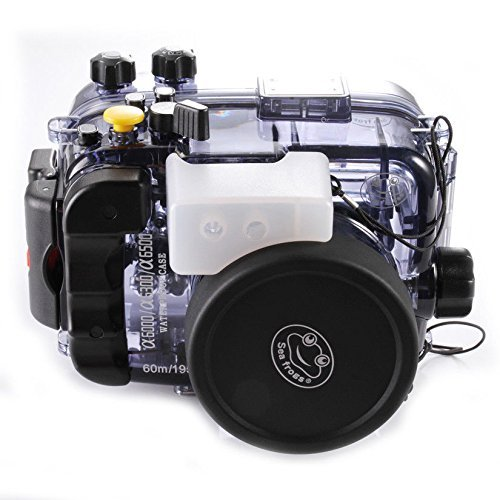 Camera Plus - Estuche Submarino Impermeable para Buceo Submarino Seafrogs + Filtro Rojo para Sony a6500 a6300 a6000 con Lente de 16-50 mm hasta 60 Metros (195 pies)