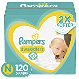 Diapers Newborn / Size 0 ( 10 lb), 120 Count - Pampers Swaddlers Disposable Baby Diapers, Giant Pack