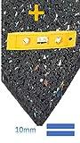 Anti-Vibrationsmatte für Waschmaschinen und Trockner (60 x 60 cm, Gummimatte, dämpft Vibrationen und Schall, Antirutsch-Matte, Waschmaschinen-Unterlage neu mit Wasserwaage von Conny Clever