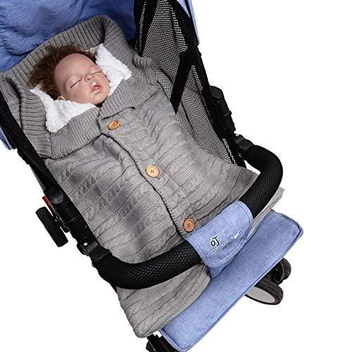 Casue Baby Wickeldecke, gestrickte weiche warme Fleece gefütterte Decke/Kinderwagen Wickeln Wickel, Dicke warme Wickelschlafsack, Säuglingsschlafsäcke leichte Häkeldecke für Neugeborene