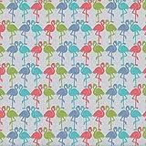 Textiles français Baumwollstoff | Die Zwei Flamingos -