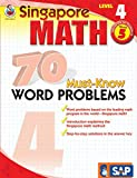 Singapore Math – 70 Must-Know Word Problems Workbook for 5th Grade Math, Paperback, Ages 10–11 with Answer Key