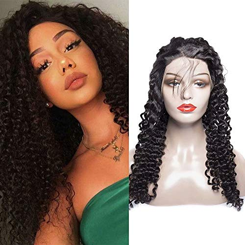 Maxine Hair Brazilian Curly Wigs For Black Women Lace Front with Baby Hair for Black Women 130% Density Natural Color 24inch