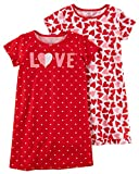Carter's Little Girls' 2 Pack Knee Length Nightgowns (2-3, Red Love)