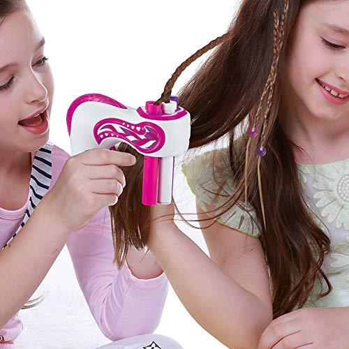 YUHUA Elektrische Automatische Haarflechter DIY Stilvolle Flechtfrisur Werkzeug Haargeflecht Webart Spielzeug Für Mädchen,Pink