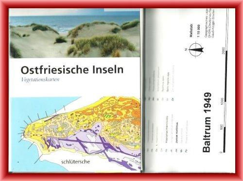 Ostfriesische Inseln. Vegetationskarten.