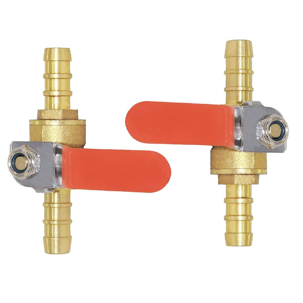 Details about  /Brass Air Ball Valve Shut Off Switch 25mm Hose Barb to 25mm Hose Barb Kit