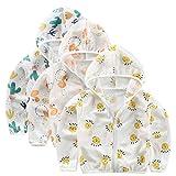 ACMEDE 3er Baby Sommer Mantel Sonnenschutz UV Schützen Outdoor Hoodie Jacke Kapuzenjacke Jungen Mädchen Sonnencreme Kapuzenmantel Oberbekleidung