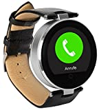 Enox RSW55 Smartwatch Bluetooth 4.0 SILBER Rund Design Handyuhr 1,22' IPS Display kompatibel mit iOS iPhone Android Schrittzähler G-Sensor