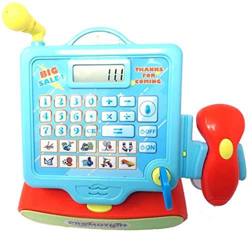 Brigamo Funktionierende Registrierkasse mit Scanner & Tastaturfeld für Spielzeug Kaufladen
