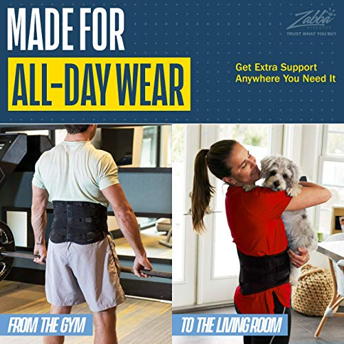 Lower Back Brace by FlexGuard Support - Lumbar Support...
