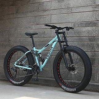 GASLIKE Ruedas de 26 Pulgadas, Bicicletas de montaña de Doble suspensión Completa para Adultos, Cuadro de Acero con Alto Contenido de Carbono, Horquilla de Resorte, Freno de Disco mecánico