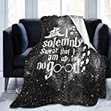 I Solemnly Swear That I Am Up to No Good Blanket 3D Print Quilt Light Warm Camping Blanket