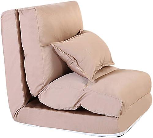 Faules Sofa YXX Klappboden Couch Lounger, Einstellbarer Video Game Stühle Mit Kissen Für Wohnzimmer (Größe   60x60x60cm)