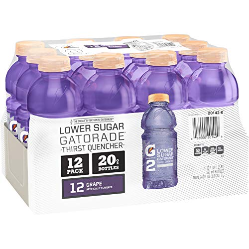 Gatorade G2 Thirst Quencher, Grape, 20 Ounce Bottles (Pack of 12) (Packaging May Vary)
