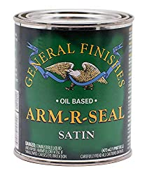 commercial General Finish Arm-R-Seal 1 Pint Satin Oil Top Coat rated curl arm support blasters