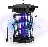 FOCHEA Zanzariera Elettrica, 18W UV Lampada Antizanzare Impermeabile IPX4, Lampada Zanzare da Esterno e Interno Silenziosa per Casa Giardino