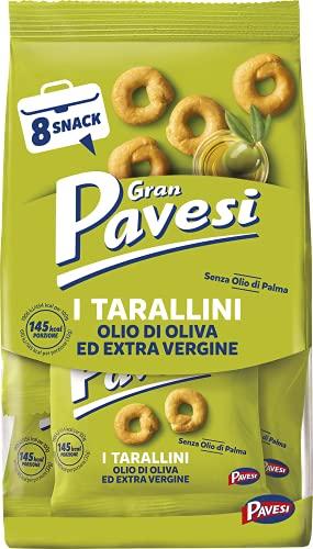 Gran Pavesi Snack Tarallini Olio di Oliva ed Extra Vergine, Senza Olio di Palma, Confezione da 256 g