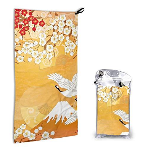 Toallas de mano para baño, ultra suaves y altamente absorbentes, hermosa toalla de baño japonesa, duradera para uso diario, hogar, camping, gimnasio, 31,5 x 15,7 cm