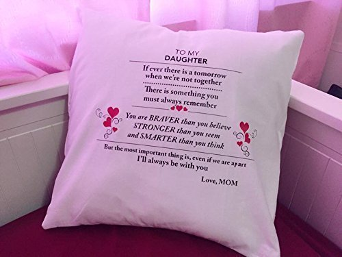 To My Daughter Pillow by Wedding Tokens