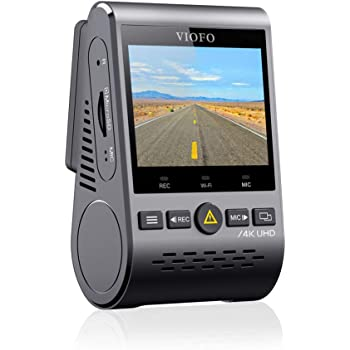 VIOFO A129 Pro 4K Dash Cam 3840x2160P Ultra HD 4K Dash Camera Sony 8MP Sensor GPS Wi-Fi, Buffered Parking Mode, G-Sensor, Motion Detection, WDR, Loop Recording