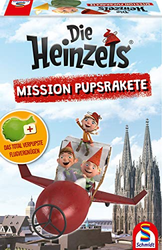 Schmidt Spiele 40592 Die Heinzels, Mission Pupsrakete, Kinderspiel, bunt