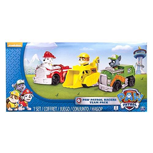 Paw Patrol confezione da 3 Veicoli Rescue Racers, Marshall, Rocky e Rubble, dai 3 anni - 6024058