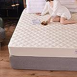 BOLO Home - Protector de colchón acolchado impermeable y extra profundo para cama, 200 x 200 + 25 cm